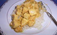 Huehnergeschnetzeltes mit Reis